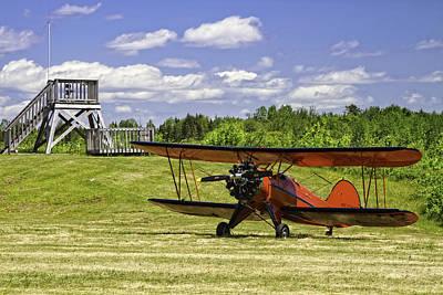 Pop Art - Antique 1931 WACO UBF-2 Biplane    by Keith Webber Jr