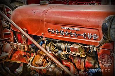 Antique 1939 Farmall Cub Tractor Art Print