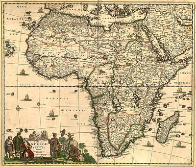 Antique Map Digital Art - Antique Africa Map by Gary Grayson