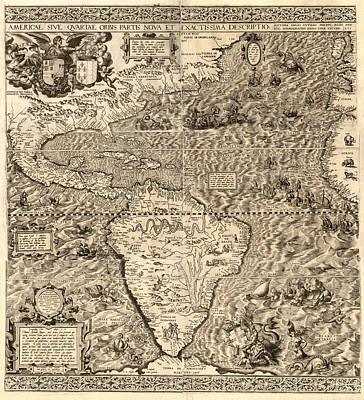 Antique Map Digital Art - Antique America Map by Gary Grayson