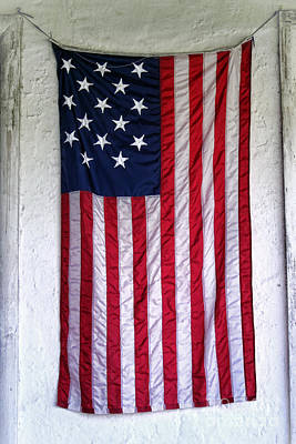 Photograph - Antique American Flag by Olivier Le Queinec