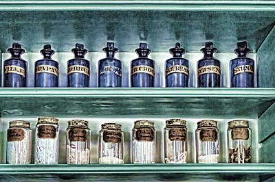 Photograph - Antique Apothecary Bottles by Sharon Popek