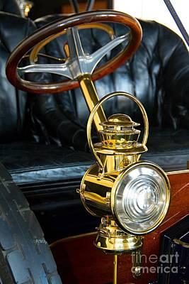 Photograph - Antique Auto Oil Light by Patrick Witz