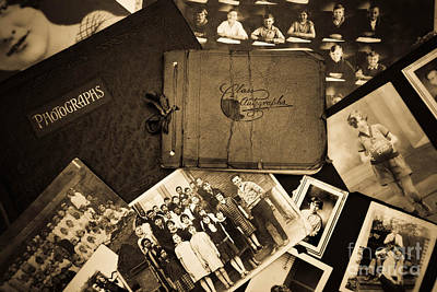 School Days Photograph - Antique Autograph And Photo Albums And Photos by Amy Cicconi
