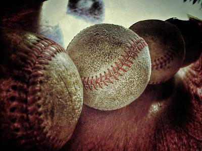 Photograph - Antique Baseballs Still Life by Bill Owen