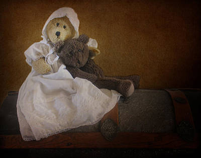 Photograph - Antique Bears by David and Carol Kelly