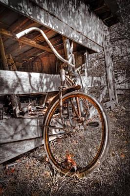 Antique Bicycle Print by Debra and Dave Vanderlaan