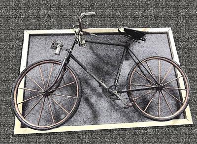 Digital Art - Antique Bicycle  by Joyce  Wasser