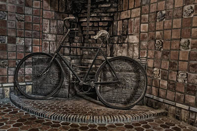 Byzantine Photograph - Antique Bicycle by Susan Candelario