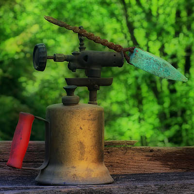 Photograph - Antique Blowtorch by Steve Hurt