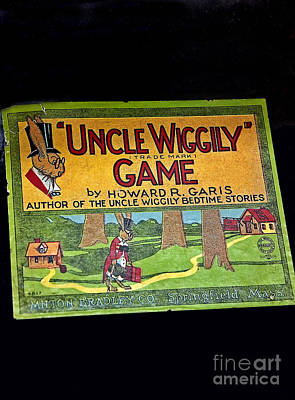 Photograph - Antique Board Game Uncle Wiggily Art Prints by Valerie Garner