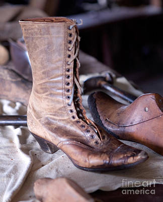Shoe Repair Photograph - Antique Boot by Iris Richardson