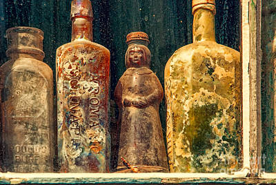 Photograph - Antique Bottles by Kathleen K Parker