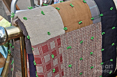 Photograph - Antique Brown Colors Tied Block Quilt by Valerie Garner