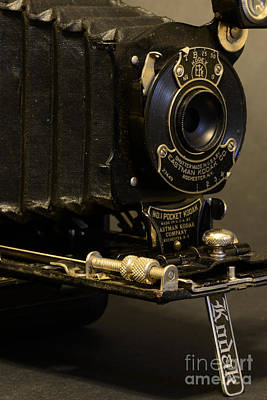 Antique Camera In Black And White Print by Paul Ward
