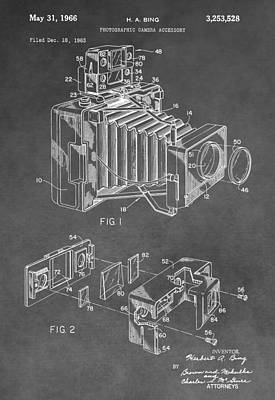 Nikon Digital Art - Antique Camera Patent by Dan Sproul