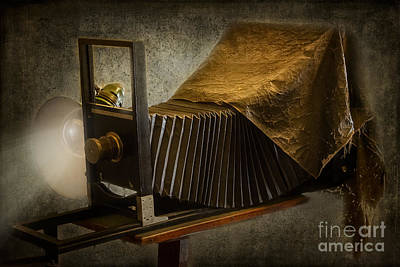Pinhole Photograph - Antique Camera by Susan Candelario