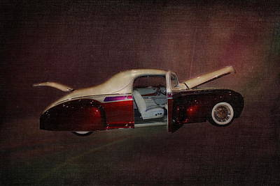 Customized Digital Art - Antique Car 1941 Lincoln Zephyr by Terry Fleckney