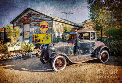Photograph - Antique Car At Hackberry General Store by Marianne Jensen