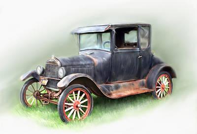 Antique Car Art Print by Bonnie Willis