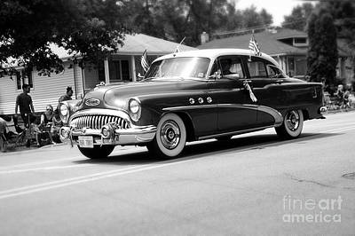 Frank J Casella Royalty-Free and Rights-Managed Images - 1953 Buick Special - Black and White by Frank J Casella