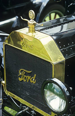 Touring Wall Art - Photograph - Antique Car Radiator by Sally Mccrae Kuyper/science Photo Library