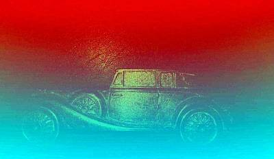 Abstract Graphics - Antique Car by Romuald  Henry Wasielewski