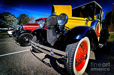 Photograph - Antique Cars At Car Show by Danny Hooks