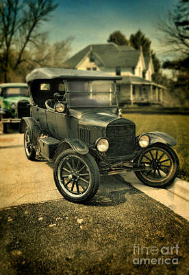 Photograph - Antique Cars By Victorian House by Jill Battaglia