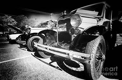 Photograph - Antique Cars by Danny Hooks