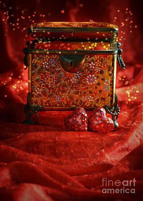 Casket Photograph - Antique Casket by Amanda Elwell