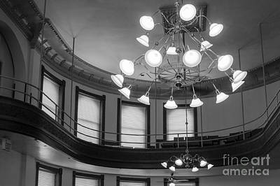 Photograph - Antique Chandelier In Old Courtroom by Imagery by Charly