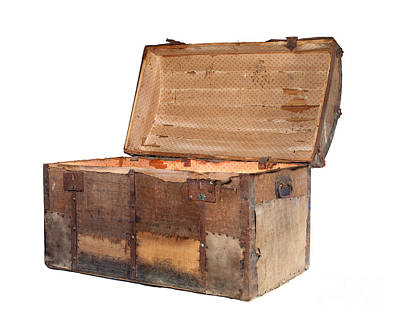 Treasure Box Photograph - Antique Chest by Sinisa Botas