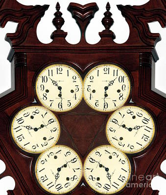 Photograph - Antique Clock Abstract . Standard by Renee Trenholm