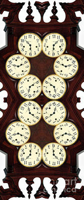 Photograph - Antique Clock Abstract . Vertical by Renee Trenholm