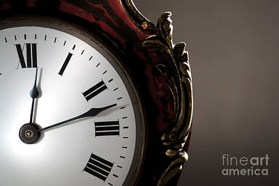 Photograph - Antique Clock Face by Olivier Le Queinec