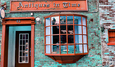 Photograph - Antique Clock Shop by Nina Silver