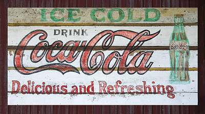 Antique Coca Cola Sign  Art Print