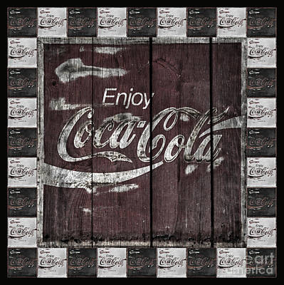 Rusty Coke Sign Photograph - Antique Coca Cola Signs by John Stephens