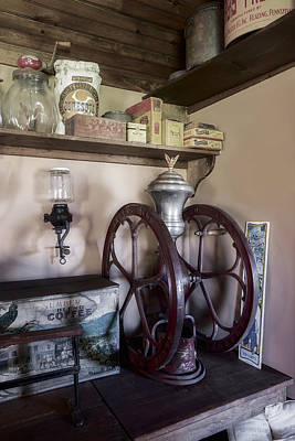 Steampunk Photograph - Antique Coffee Mill by Susan Candelario