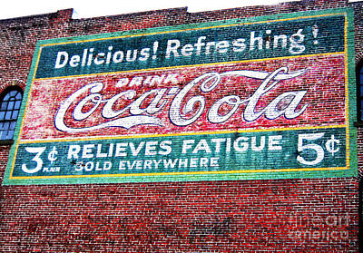 Photograph - Antique Coke Sign by Bob McGill