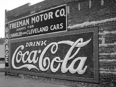 Antique Cola Sign Art Print by Ann Powell