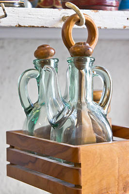 Old Jugs Photograph - Antique Containers by Tom Gowanlock