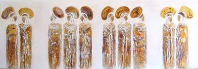Antique Copper Zulu Ladies - Original Artwork Art Print