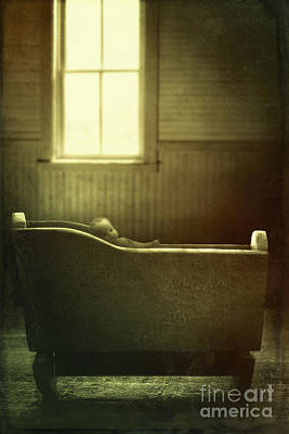 Photograph - Antique Cradle With Doll In Front Of Window by Sandra Cunningham