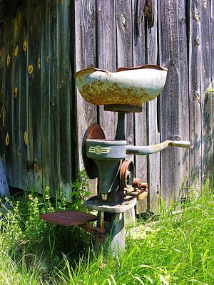 Art Print featuring the photograph Antique Cream Separator by Sherman Perry