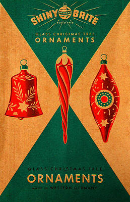 Photograph - Antique Christmas Tree Ornaments Box by David Lee Thompson