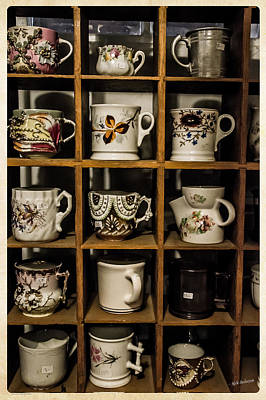 Photograph - Antique Cups On Display by Mick Anderson