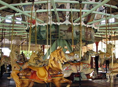 Cat Woodcarving Photograph - Antique Dentzel Menagerie Carousel In Rochester New York by Rose Santuci-Sofranko