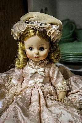 Mixed Media - Antique Doll by Connie Dye